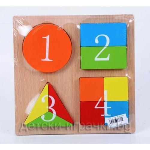 Дървени кубчета - пъзел H983970
