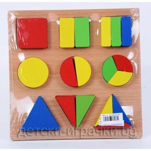 Дървени кубчета - пъзел H984015
