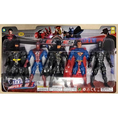 Комплект супергерои - Спайдърмен , Супермен , Зоро -  5 бр. в комплект F113439