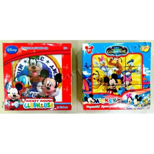 Кубчета - пъзел  Мики маус F295509